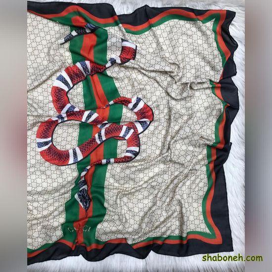 روسری نخی قواره بزرگ ساده تابستانه