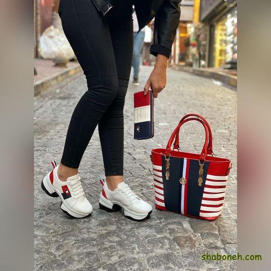 کیف و کفش ست دانشجویی دخترانه