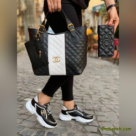ست کیف و کفش اسپرت دخترانه