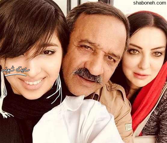 عکس خانوادگی علی اوسیوند بازیگر و همسرش حمیرا ریاضی و دخترش یاسمین