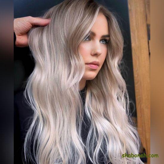 مدل رنگ مو تیره با مش