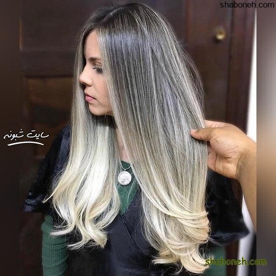 رنگ مو جدید روشن خاص و جذاب
