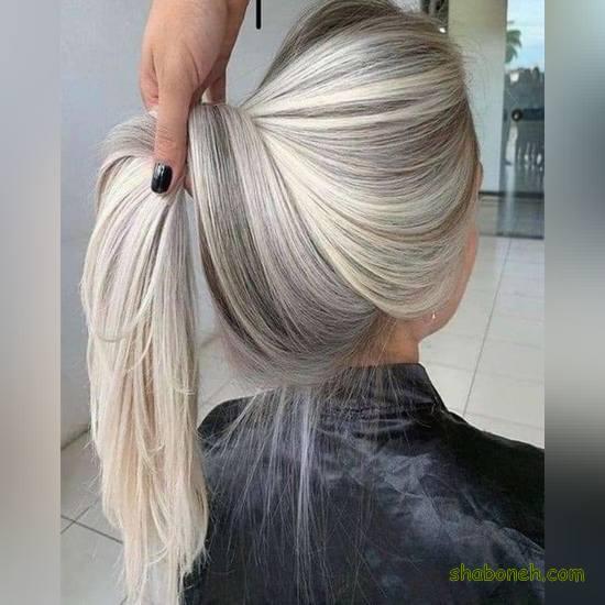 عکس مدل رنگ مو مش جدید 2020