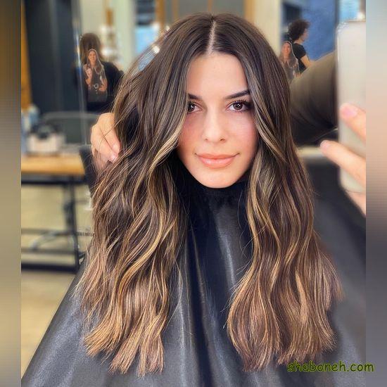 مدل عکس رنگ موی کنفی جذاب