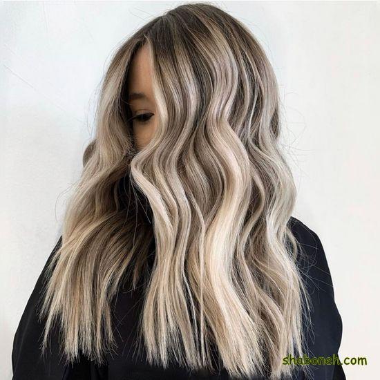 رنگ مو هایلایت زیتونی