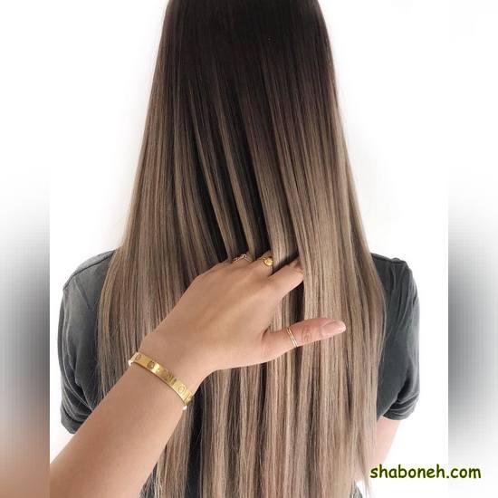 رنگ مو زیبا بدون دکلره