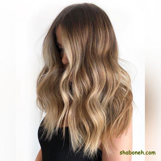 رنگ مو شیک روشن
