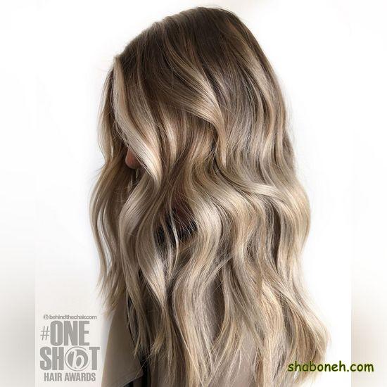 رنگ مو زیبا با دکلره