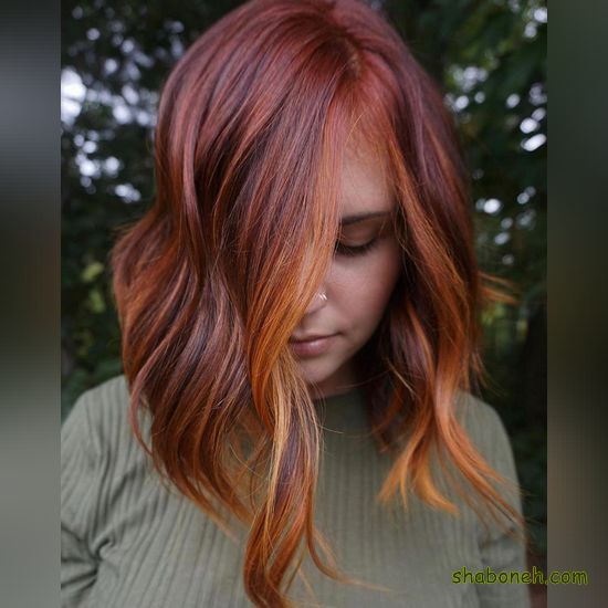 رنگ مو زیبا و شیک