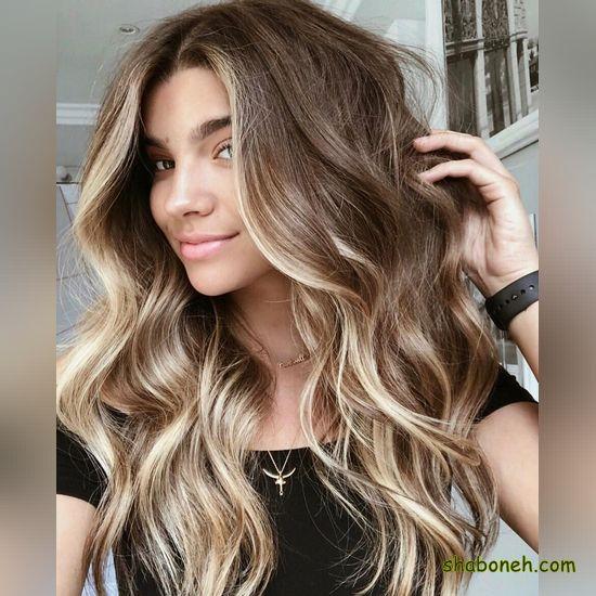 مدل رنگ مو زیتونی مدرن و خاص