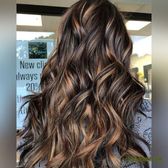 رنگ مو زیبا و جدید