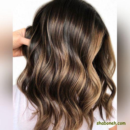 رنگ مو شیک بدون دکلره