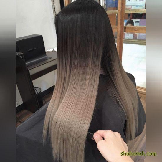 انواع رنگ مو زیتونی مدرن و خاص