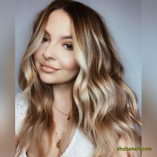 مدل رنگ مو هایلایت روشن
