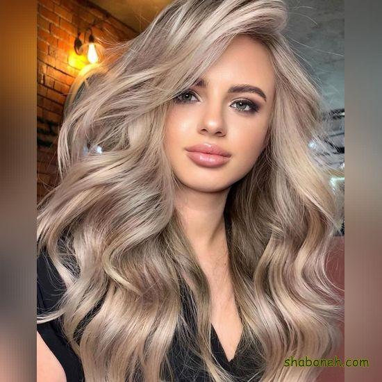 مدل رنگ مو هایلایت دودی
