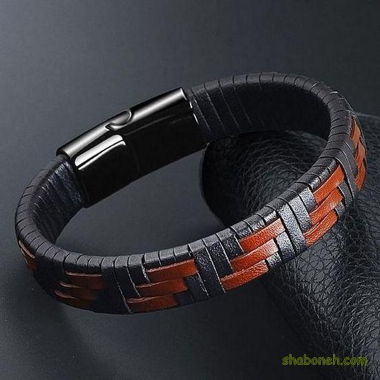 مدل دستبند چرمی مردانه