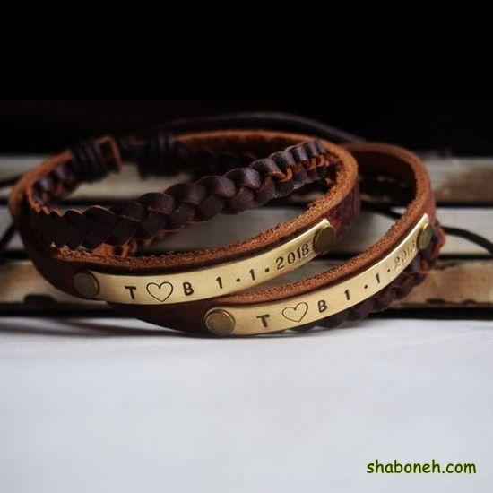 عکس از دستبند چرمی