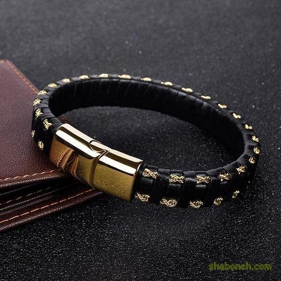 مدل دستبند چرم مردانه