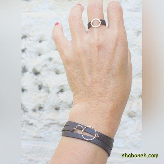 انواع دستبند چرمی مردانه طلا