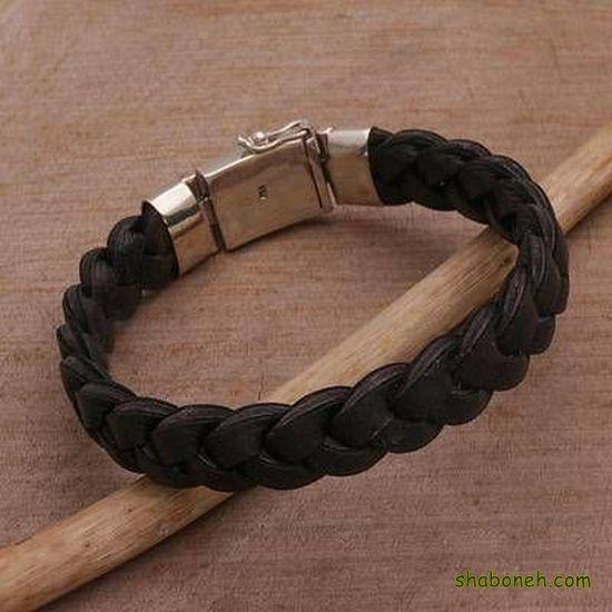 عکس دستبند چرم دخترانه