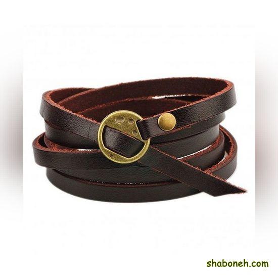 دستبند زنانه چرم جدید