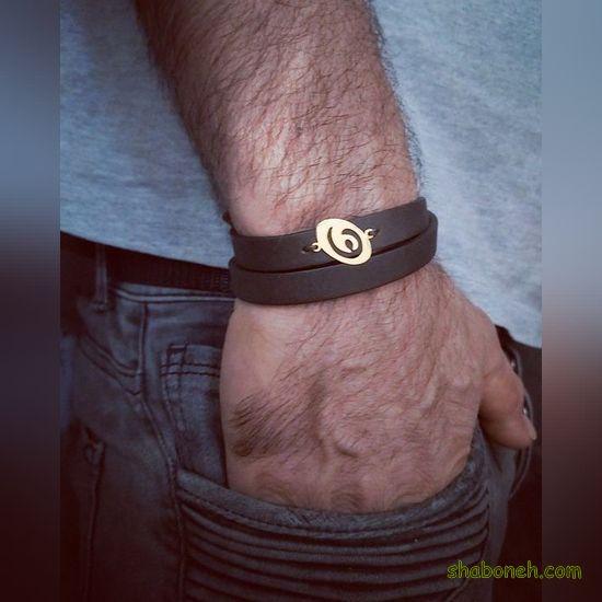 دستبند چرم مدل جدید