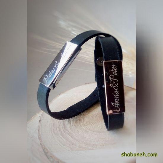 دستبند چرم پسرانه جدید