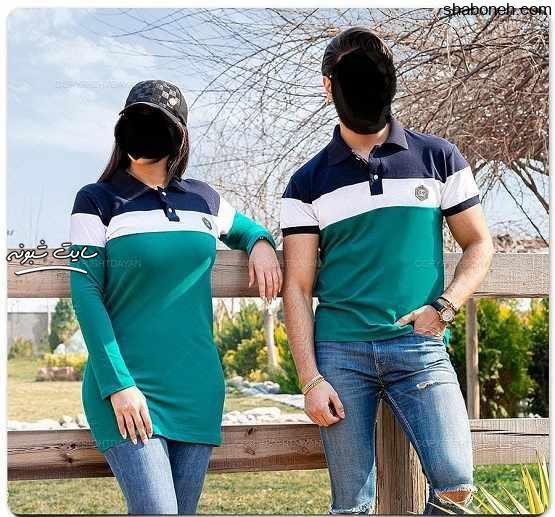 مدل های ست همسر مانتو و تی شرت (زن و شوهر) ویژه تابستان ۹۹