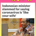 کرونا شبیه زن است مقایسه کرونا با زن ها اظهارات محمد مهفود وزیر امنیت اندونزی