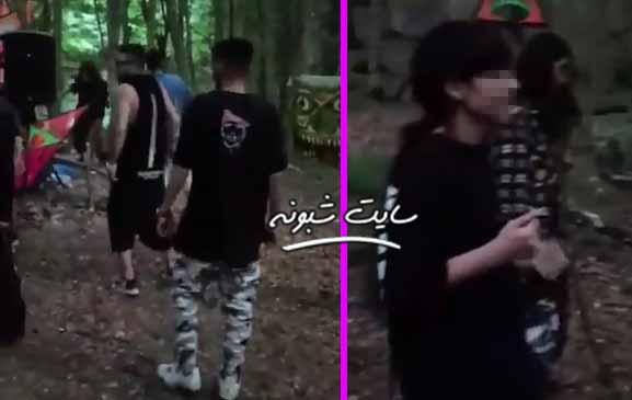 فیلم (بدون سانسور) رقص مختلط شیطان پرستان در جنگل های شمال ایران