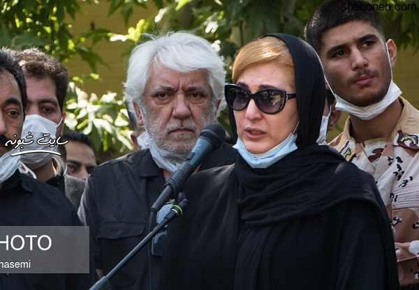مراسم تشییع سیروس گرجستانی بازیگر (مریم امیرجلالی در خاکسپاری) +تصاویر