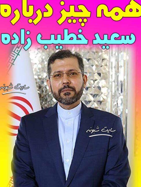 بیوگرافی سعید خطیب زاده سخنگوی وزارت خارجه +سوابق و اینستاگرام