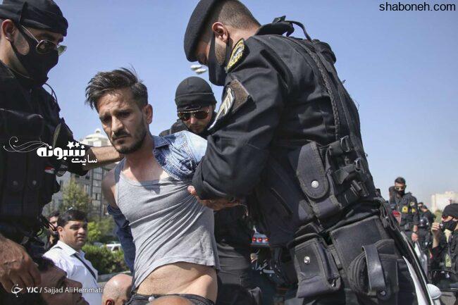 (تصاویر) خیابان گردی اراذل و اوباش در تهرانپارس توسط پلیس +عکس