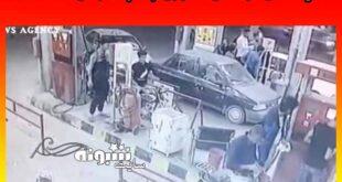 اتش سوزی پمپ بنزین تاکستان قزوین (فیلم کامل) +تلفات