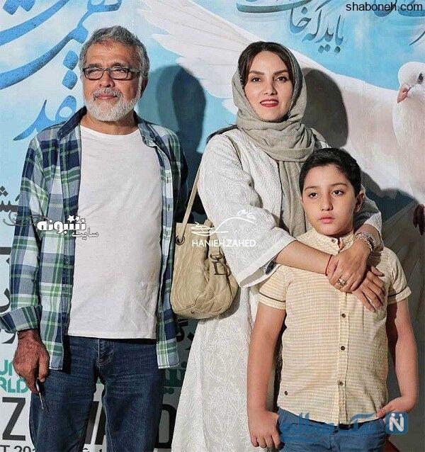 مرجان شیرمحمدی و پسر و همسرش