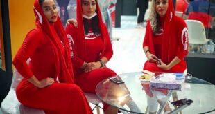 (عکس) دختران بدنساز ایران در نمایشگاه تجهیزات ورزشی در تهران