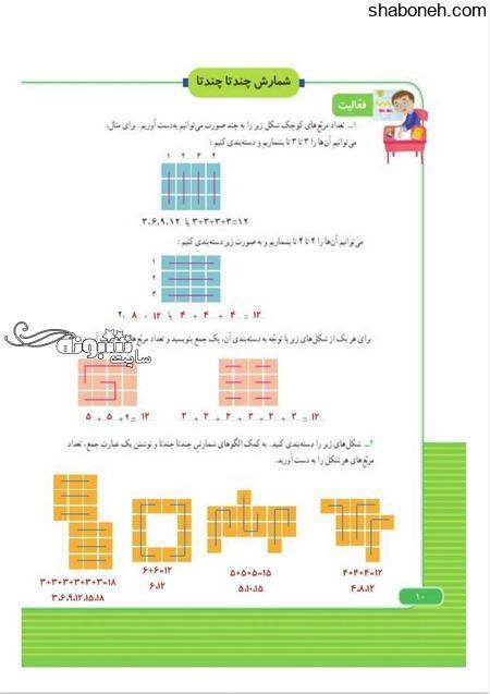 تمرینات ریاضی سوم ابتدایی