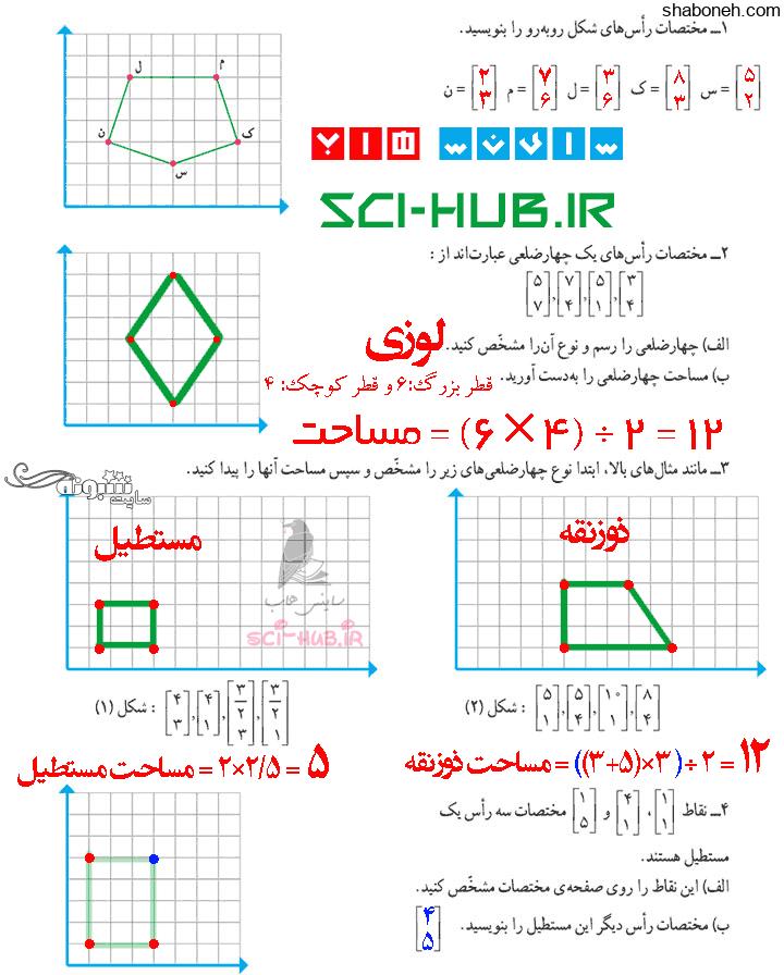 جواب کار در کلاس صفحه ۷۷ ریاضی ششم