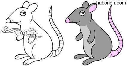 آموزش نقاشی کشیدن موش برای کودکان (آموزش تصویری)