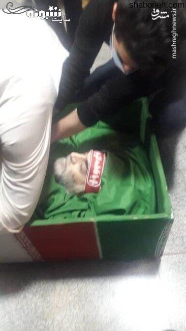 عکس پیکر (جنازه و جسد) شهید محسن فخری زاده مراسم تشییع جنازه شهید محسن فخری زاده دانشمند