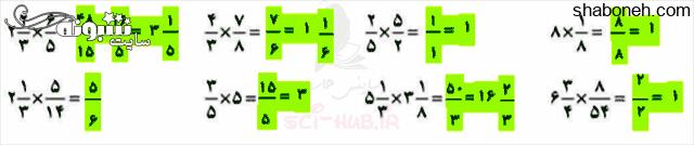 جواب کار در کلاس صفحه ۲۸ ریاضی ششم ابتدایی