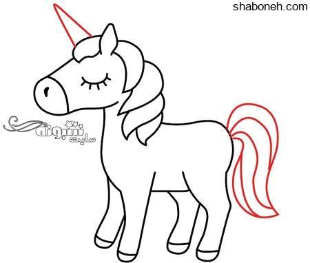 عکس نقاشی اسب تک شاخ
