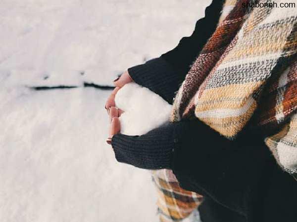 عکس پروفایل دخترانه زمستانی و برفی زیبا و خاص برای دختران