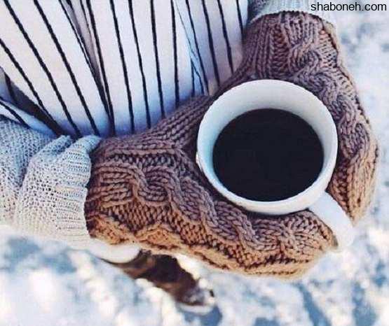 عکس پروفایل دخترونه با دست کش و چایی
