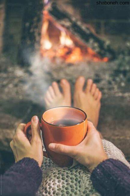 عکس پروفایل دخترونه زمستانی کنار آتش عکس پروفایل دخترانه هوای سرد