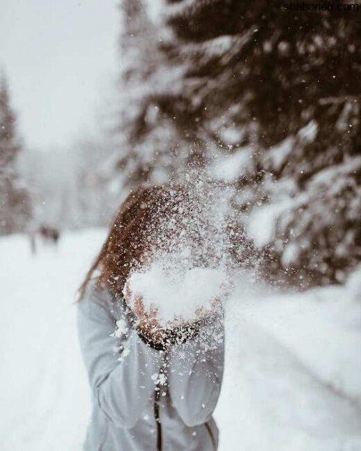 عکس پروفایل دخترانه بدون چهره و صورت عکس زمستانی