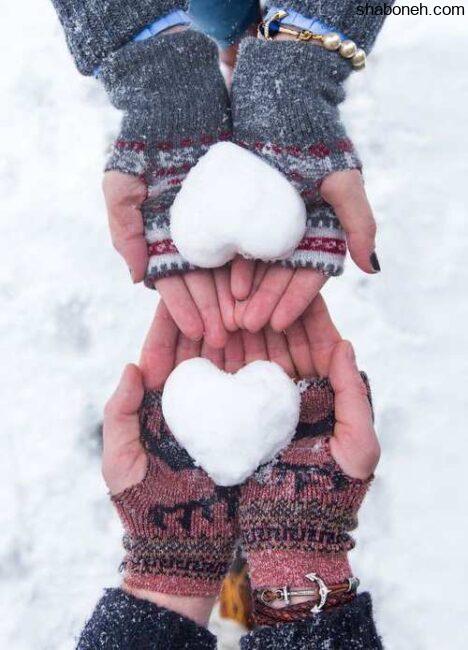 عکس پروفایل زمستانی دو نفره دخترونه زمستانی و برفی زیبا و خاص برای دختران