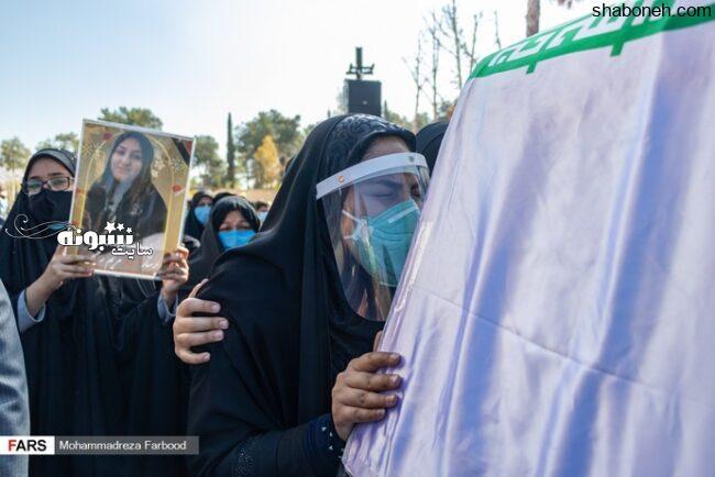 مراسم تشییع شهیده مریم رحیمی