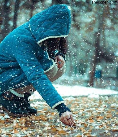 عکس دختر برفی برای پروفایل و دخترانه در برف