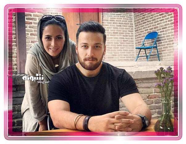 میلاد میرزایی و همسرش
